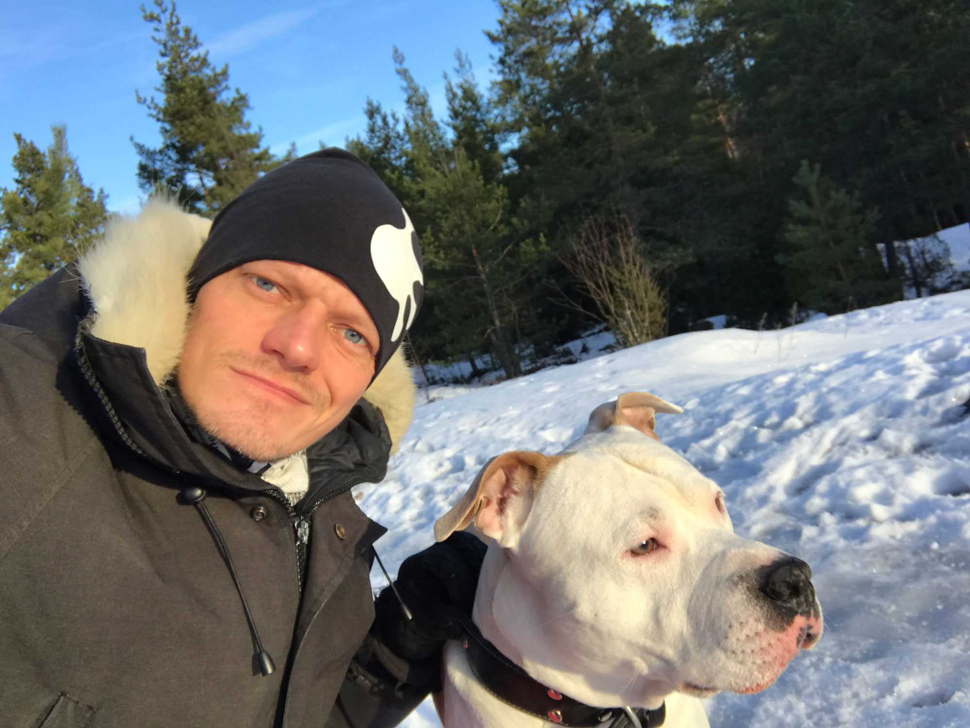 Blog - Me and my dog Ace the amstaff - Screw Them All