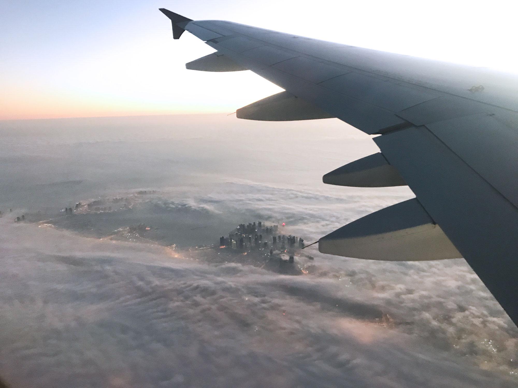 Qatar Airways cloud city - Helsinki to Doha - Blog - Travel - Screw Them All