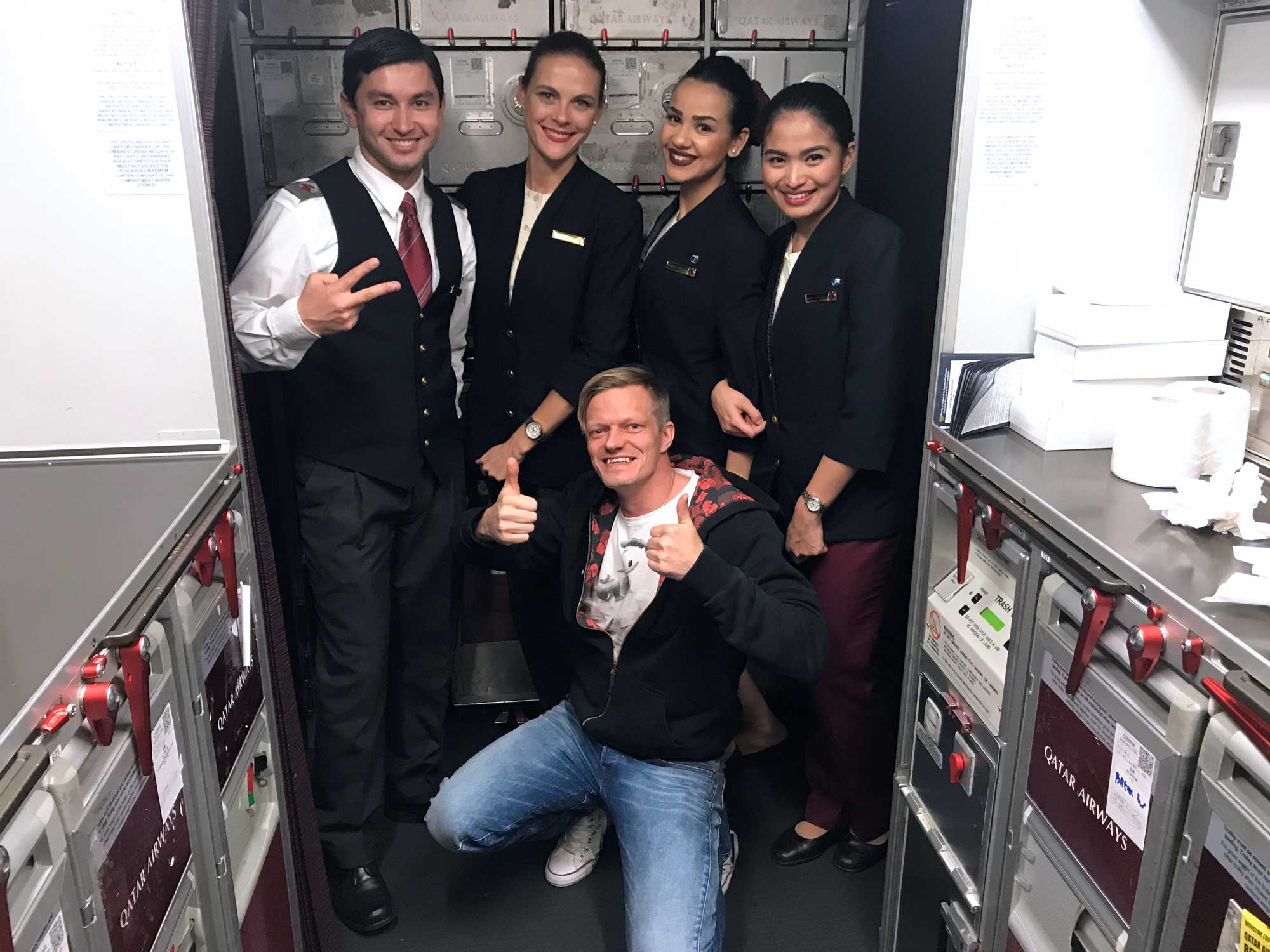 Qatar Airways QR960 - Cabin Crew - Doha to Denpasar Bali - Travel - Blog - Screw Them All