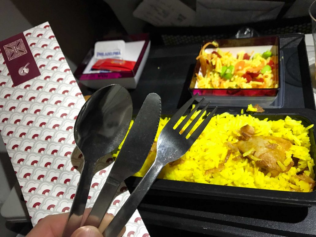 Qatar Airways dinner Helsinki to DOHA - Blog - Screw Them All