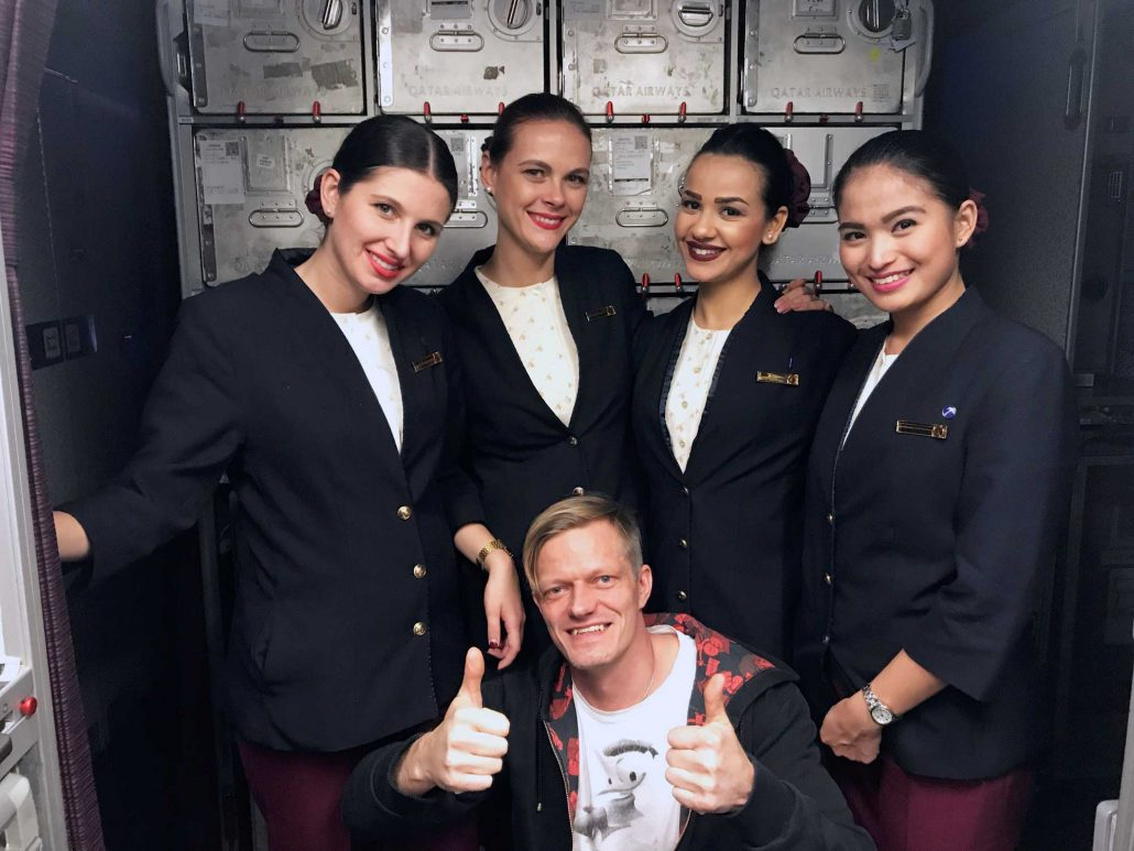 Qatar Airways QR960 - Cabin Crew - Doha to Denpasar Bali - Travel - Blog - Screw Them All