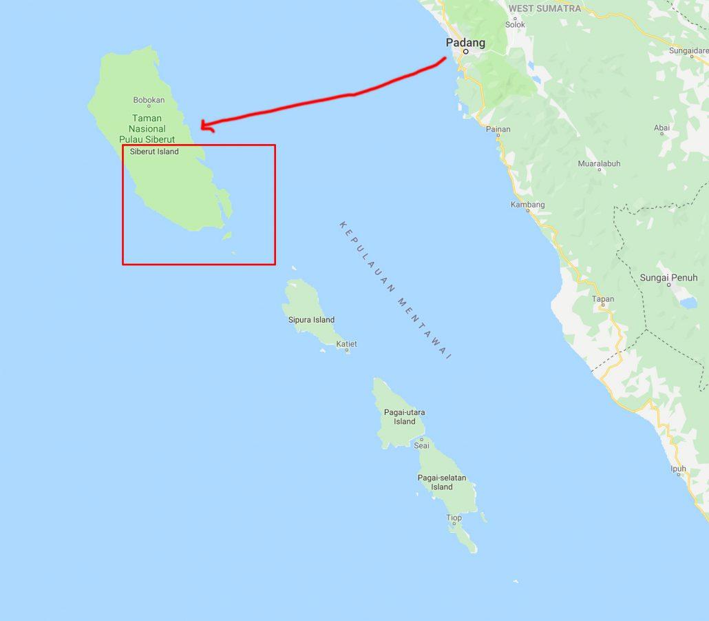 Padang to Siberut