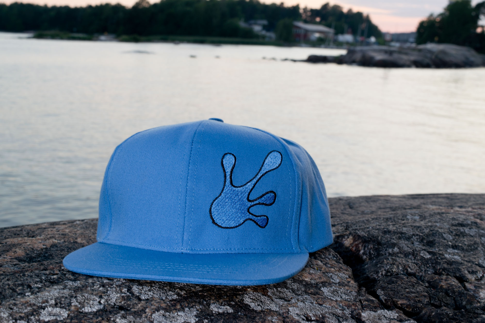 Believe in yourself - Screw Them All logo hat - Flat snapback light blue