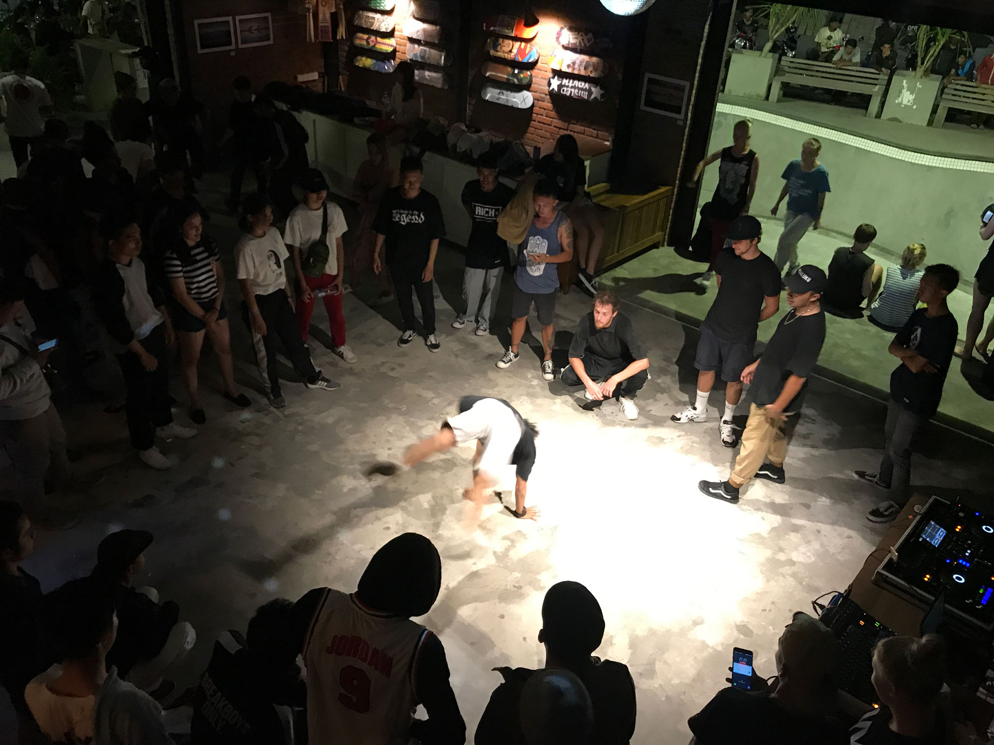 Konkrete break dance battle event - Canggu, Bali
