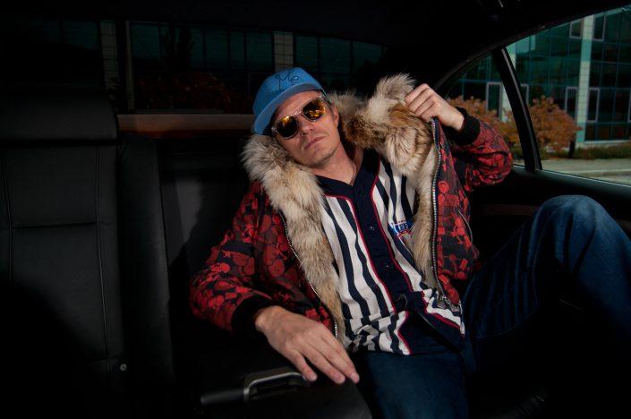 The Hoodie - Custom real fur lined hoodie - Lifestyle Photo