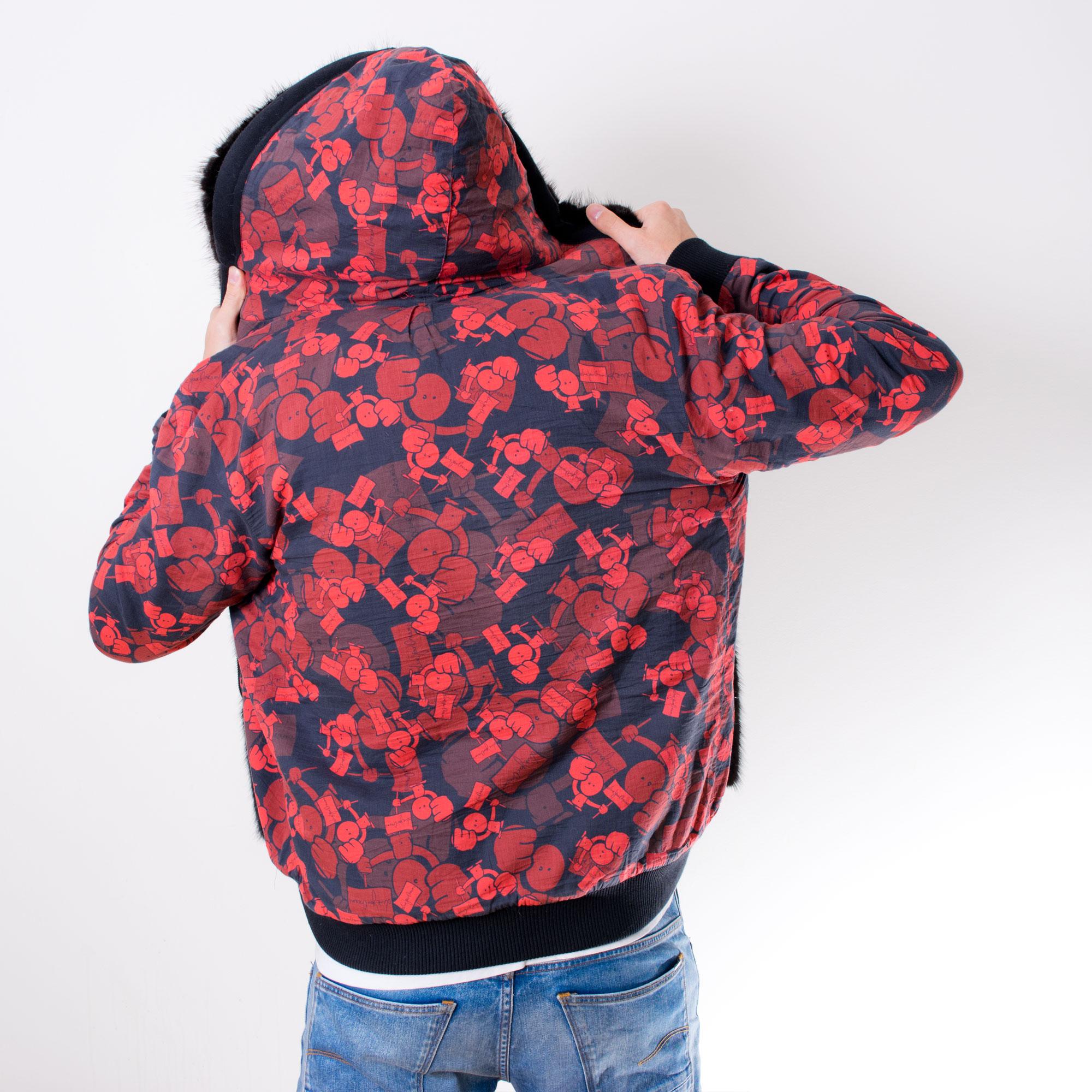 The Hoodie - Number 1 - Custom fur lined hoodie - back