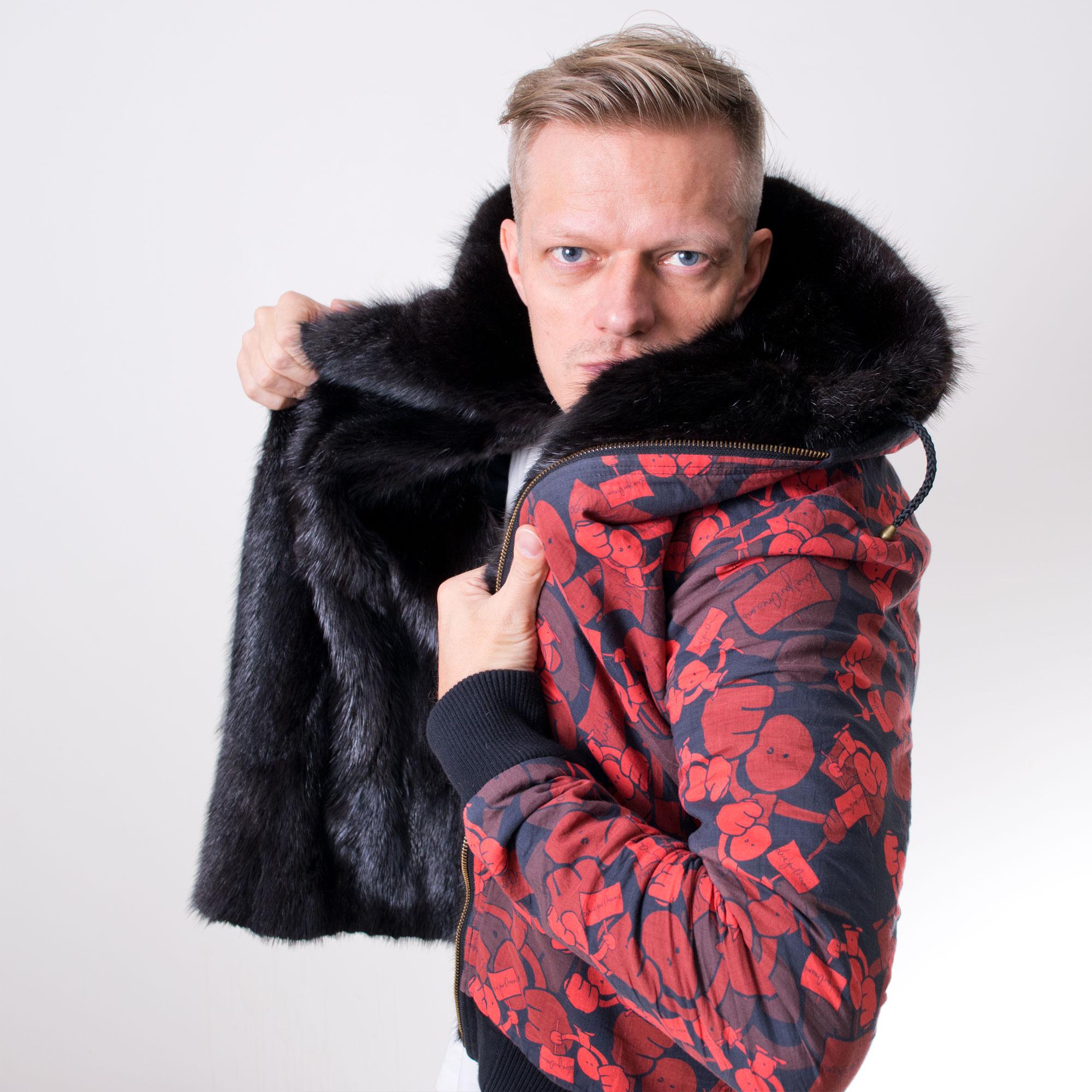 The Hoodie - Number 1 - Custom fur lined hoodie - front