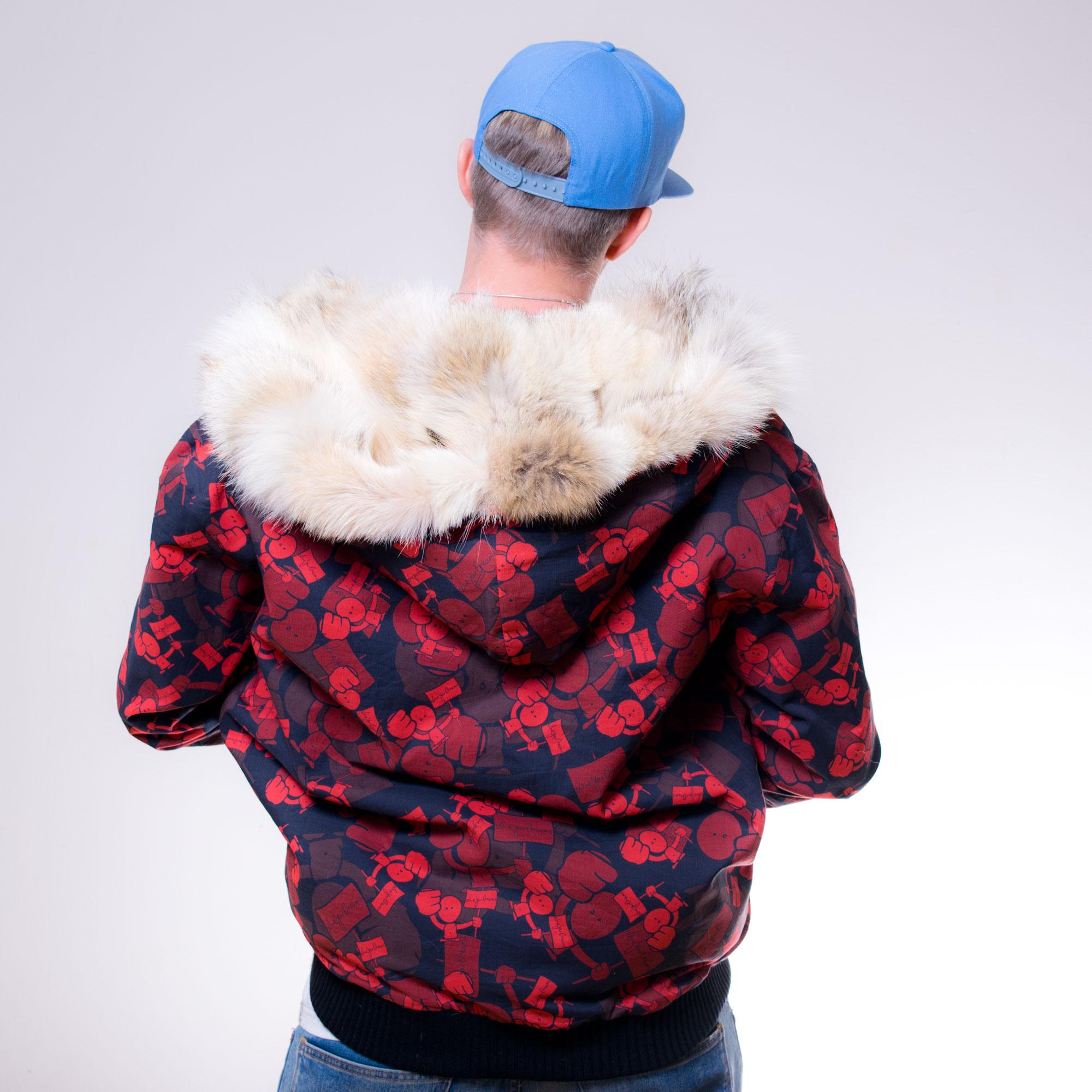 The Hoodie - Number 2 - Custom fur lined hoodie - back