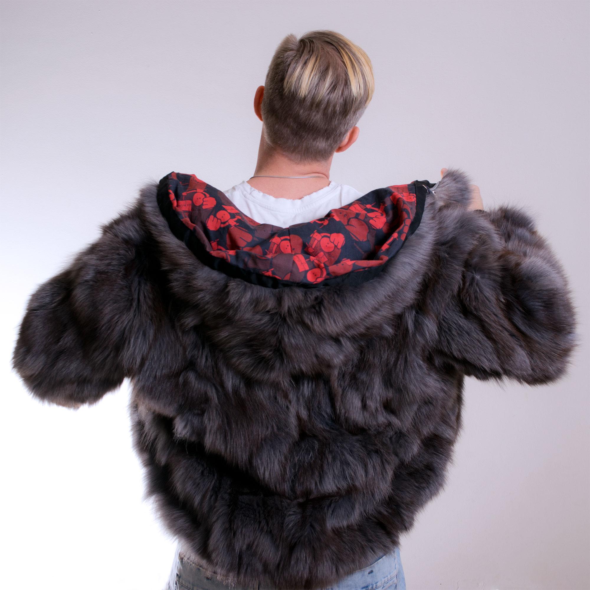 The Hoodie - Number 3 - Custom fur hoodie - back