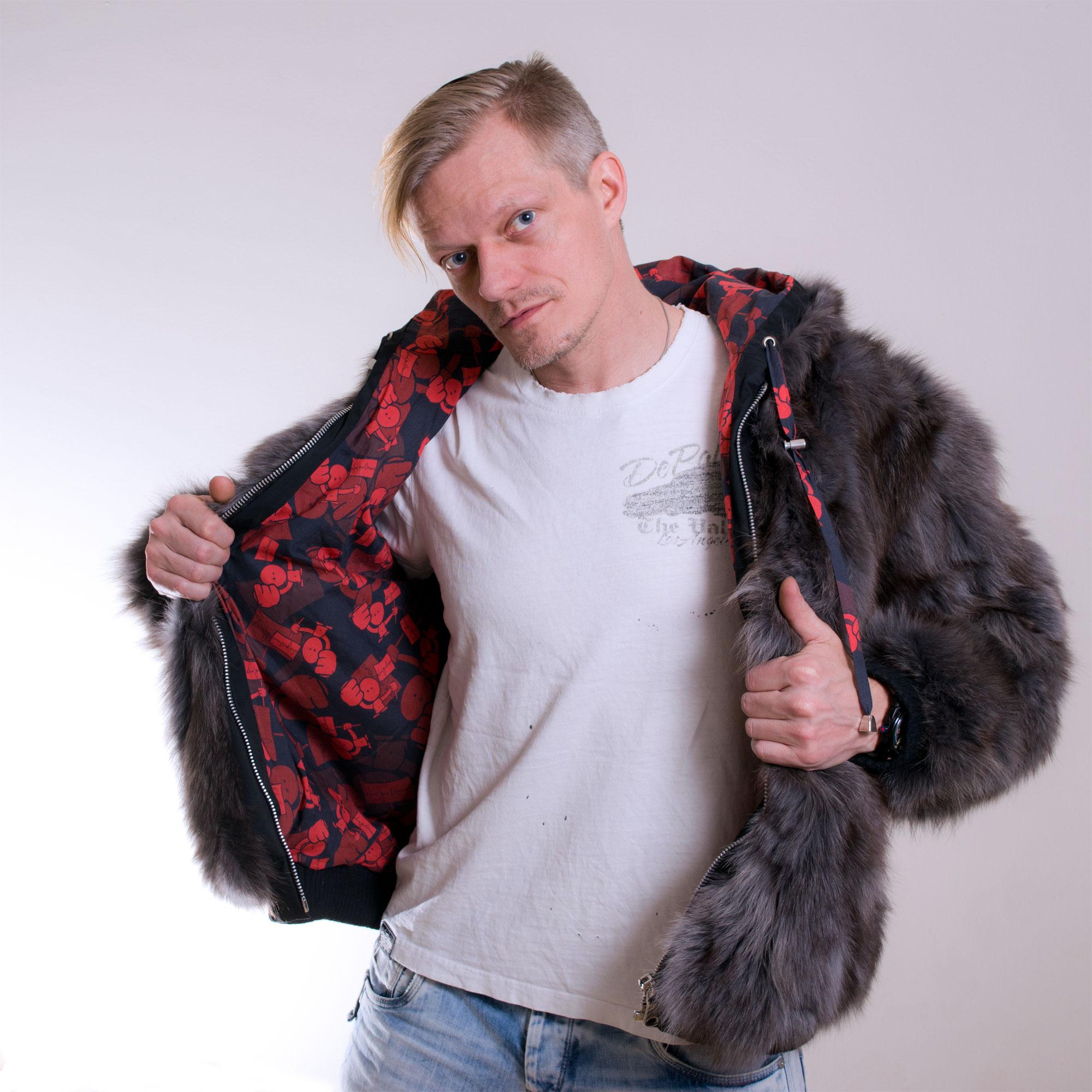 The Hoodie - Number 3 - Custom fur hoodie - front